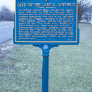Bellanca Airfield Delaware Historical Marker