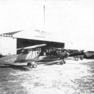 Original 1928 Air Services, Inc. Hangar. Destroyed by fire in 1934